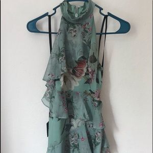 Bebe NWT green mini dress